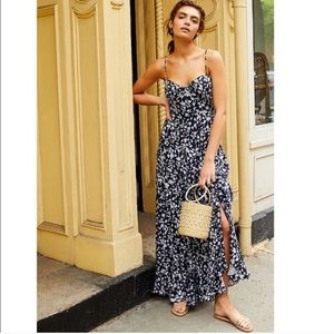 Free People Under The Moonlight Maxi Dress Navy